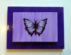 vidrio Mariposa Violeta 2
