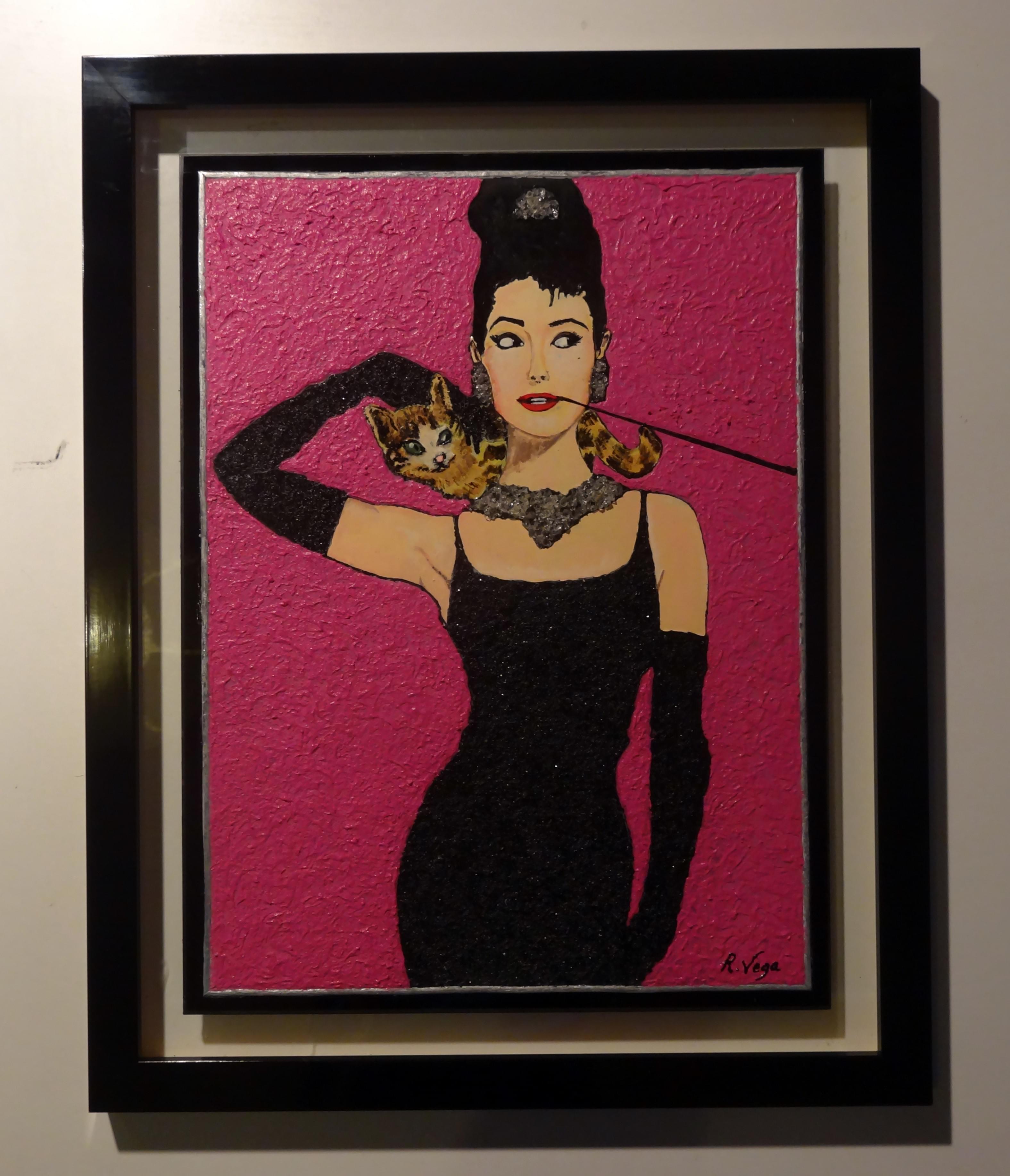 Audrey hepburn desayuno con diamantes rosa vega art - Audrey hepburn cuadros ...